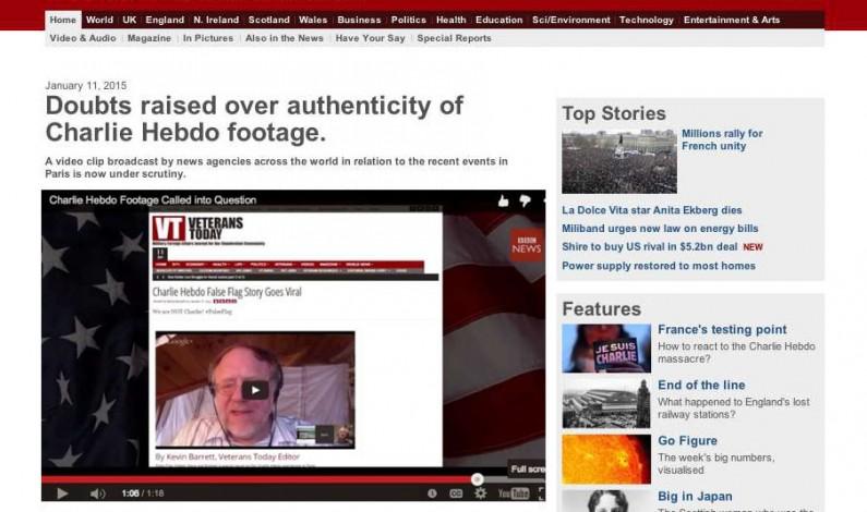 BBC News calls Charlie Hebdo a false flag…