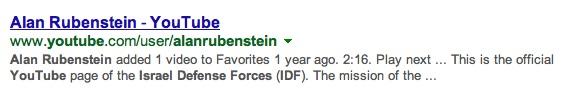 Alan Rubenstein's favorites on YouTube