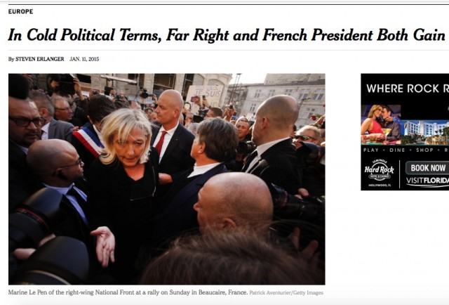 Far right and French president both gain