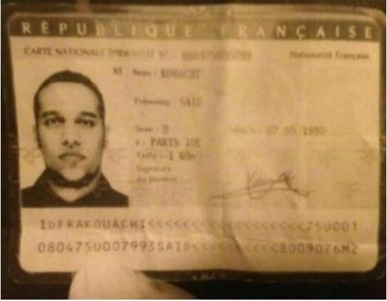 Terrorist drops ID