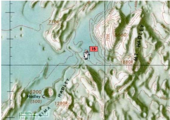 The lunar landscape map