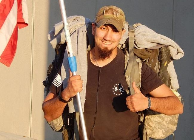 Veteran walks across America for wounded comrades