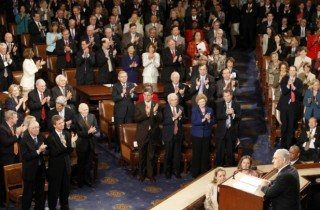 Peak Whorehouse -- Netanyahu gets 29 standing ovations in Joint Session of the American Knesset on 24 May 2011