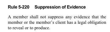 Rule 5-220 Suppression of Evidence
