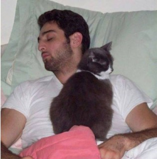 Tamerlan with cat and beard