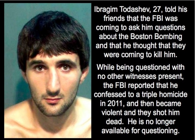 Todashev was murdered by the FBI