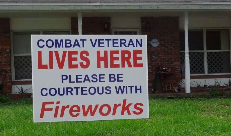 Veterans with PTSD struggle with fireworks explosions