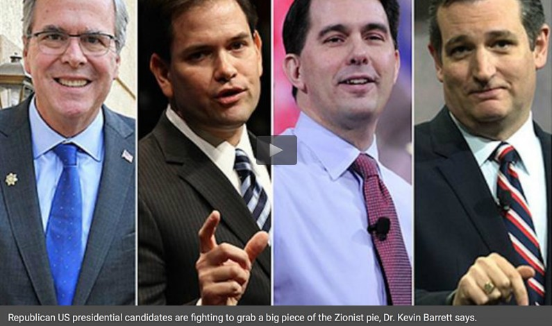 GOP candidates fighting to grab big piece of Zionist pie: American scholar