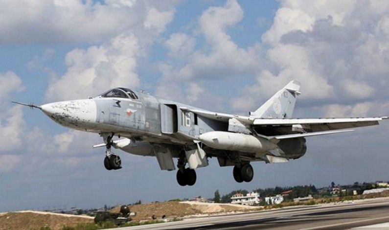 Russian airstrikes forcing IS militants out of Aleppo province