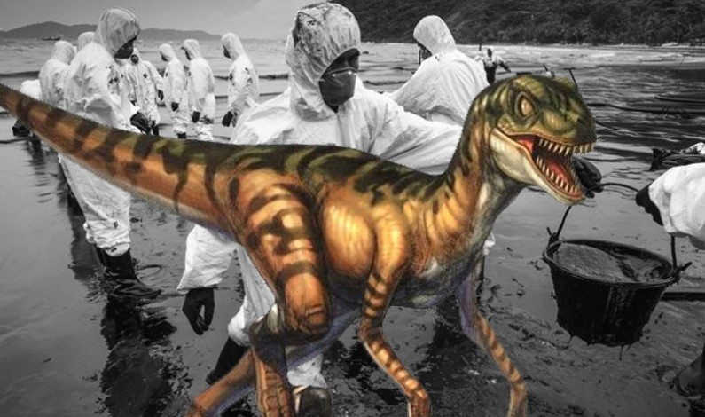 A Giant Raptor Fueled by Oil Circles the Earth