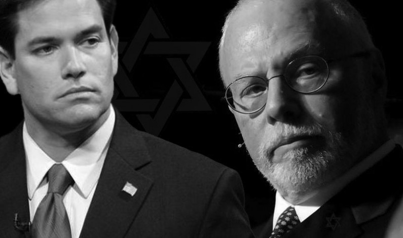 Top Israeli Firster Billionaire Purchases US Presidential Candidate Marco Rubio