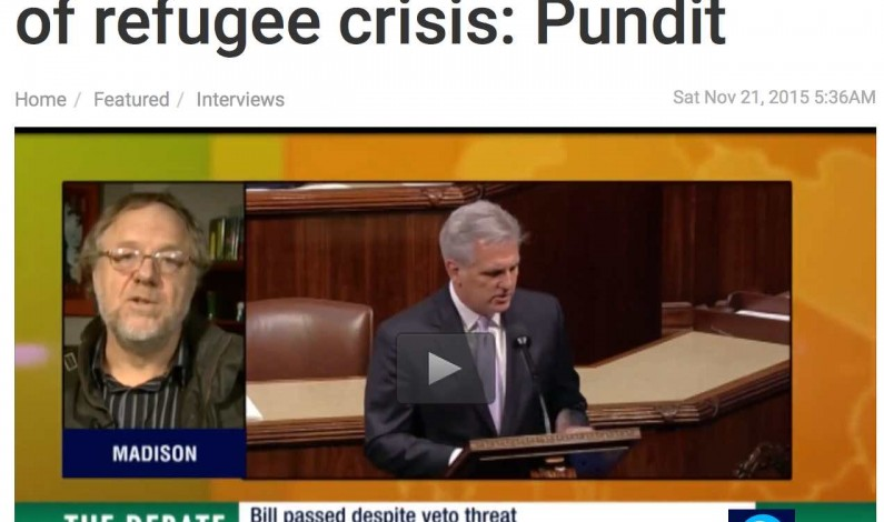 Press TV Debate: Dumbed-down West brainwashed into hating refugees