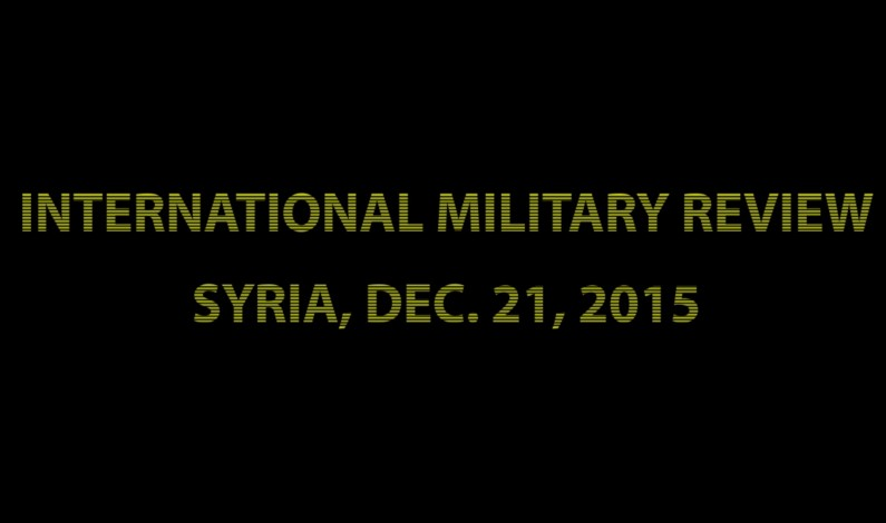 SouthFront: Syria battlespace, Dec. 21, 2015