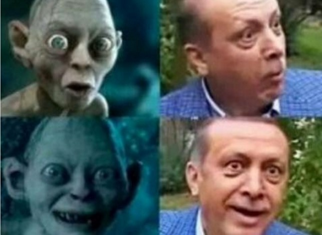100 People Detained for Comparing Erdogan to Gollum