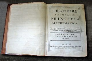 Newton's own copy of his Principia with hand written correction nots