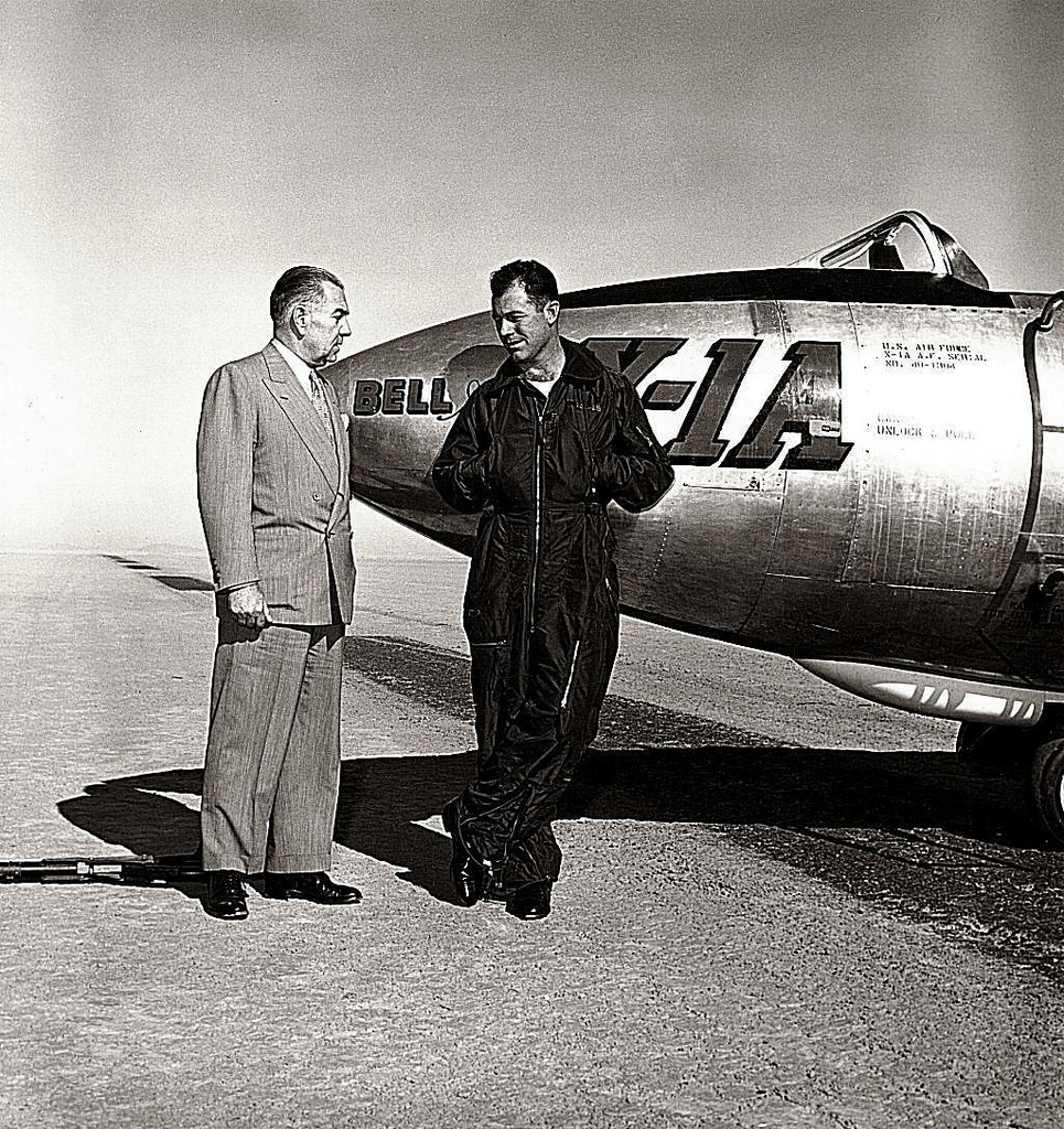 Larry Bell with Chuck Yeager