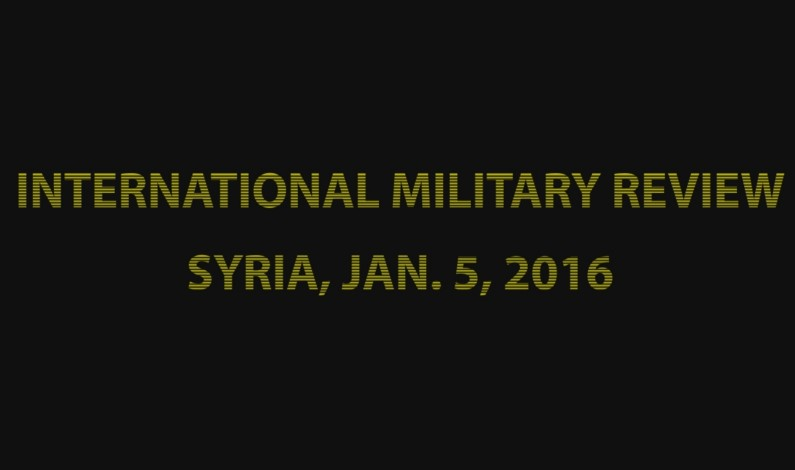 SouthFront: Syria battlespace, Jan. 5, 2016