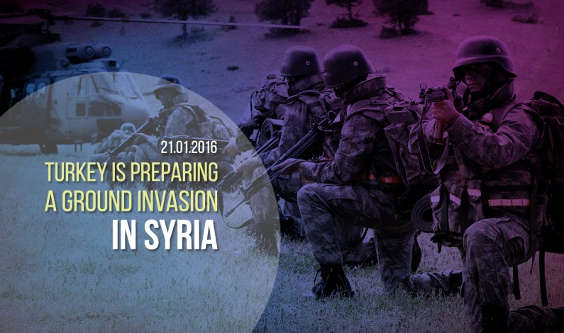 Syria battlespace, Jan. 21, 2016: Turkey Prepares Invasion