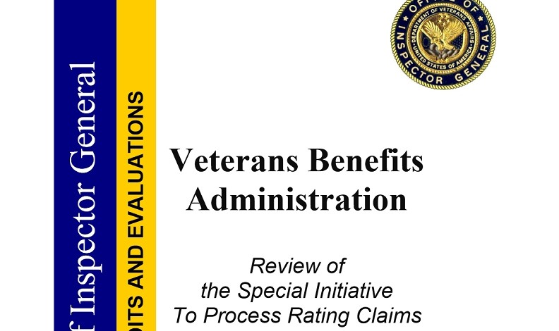 VAOIG Report:  Veterans Affairs Lies About Backlog, Hid Claims