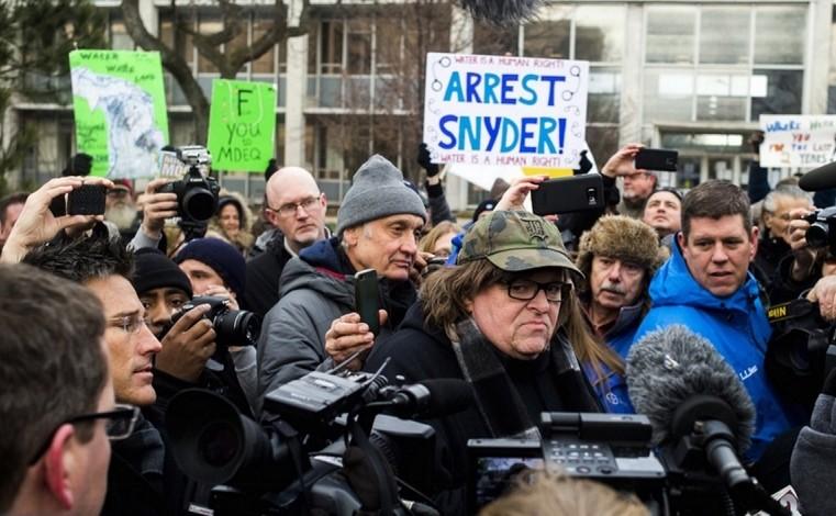 Michael Moore: Stop Sending Water, Join Revolution for Flint Instead