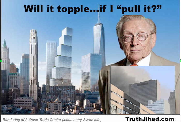 Larry Silverstein is afraid his new WTC Tower is going to fall over
