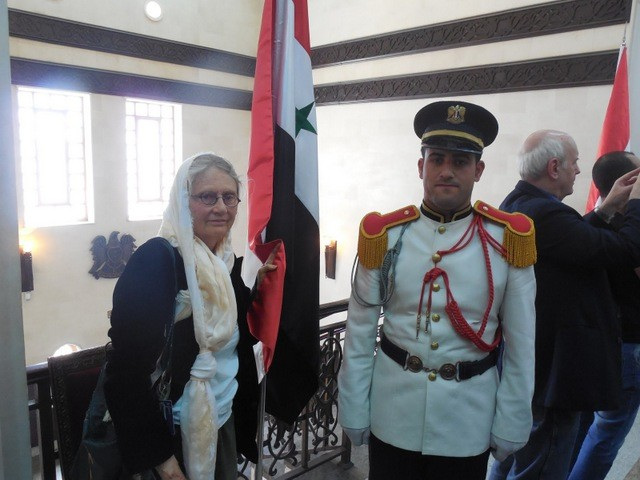 Miss Jane with honor guard, going into briefing by Speaker of the Parliament - Jim Dean on R shooting everyone but himself as usual