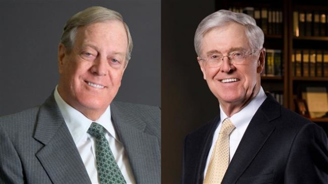 Koch brothers eat crow