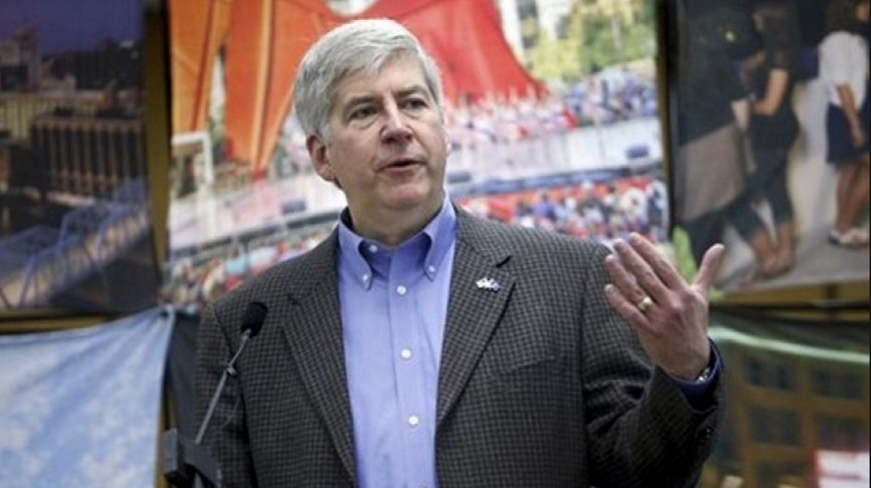 "heading the ""worst dressed on the way to prison"" list, Rick Snyder"