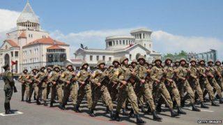 Nagorno-Karabakh has the advantage of interior lines, and Azerbaijan in numerical superiority