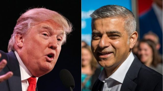 Who would have seen this coming - a new Muslim mayor of London sparing with the Donald