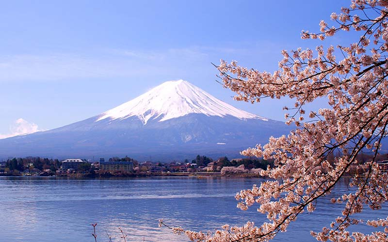 Fuji the magnificent empowers all in its spiritual glow