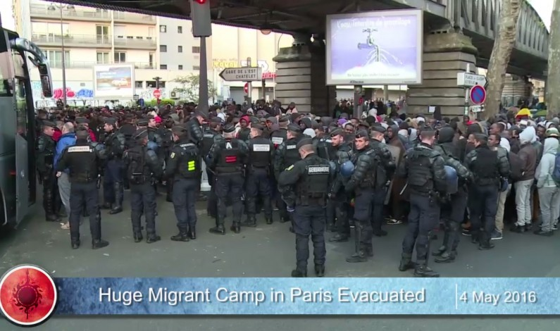 Huge migrant camp in the French capital evacuated due to fighting