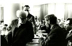 Uri as the youngest member of the Knesset with Ben-Gurion