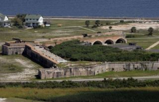 Fort Pickens in Pensacola, Florida was reinforced the night after the Fort Sumter attempt