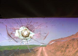 bullet hole windshield Alla Pierce Karabakh