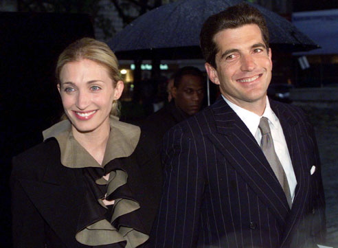 John F. Kennedy Jr., with his wife Carolyn Bessette
