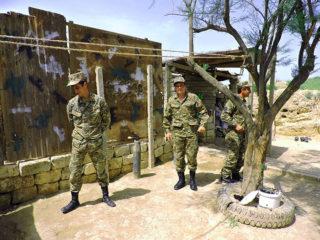 Soldiers with Alla Pierce Karabakh