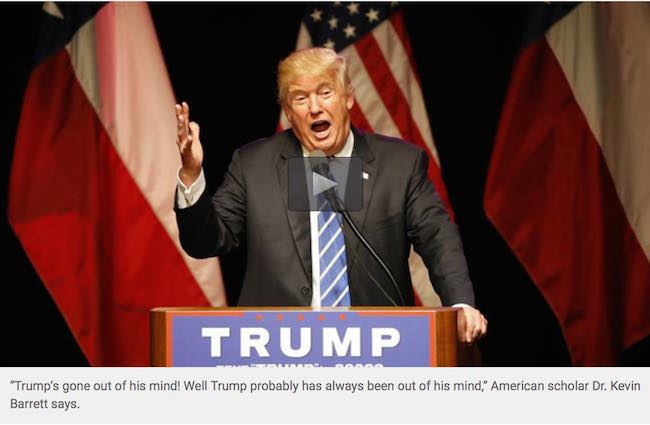 Trump fueling Islamophobia in US to get elected