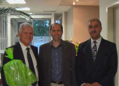 Professor. Ing. Konstantin Mehl, Sterling Allan and Mehran T. Keshe in Belgium, photo by Dirk Laureyysens