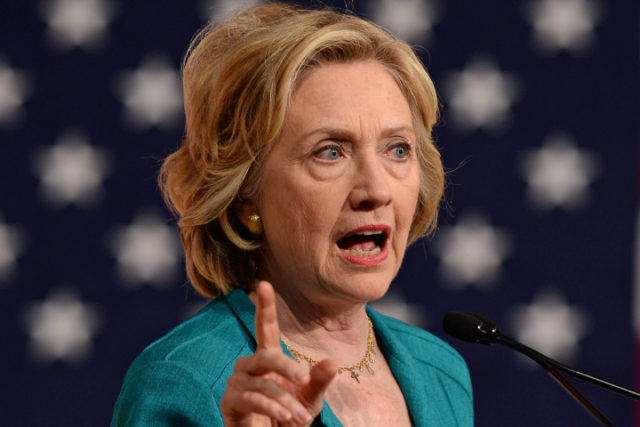 Hillary goes for broke with the last opponent she would have dreamed of