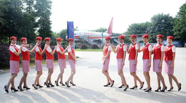 Chinese flight attendant Airline hostess