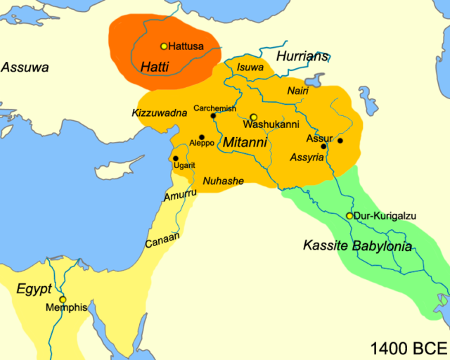 Mittani_Near_East_1400_BCE
