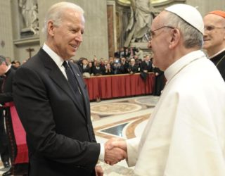 Pope welcomes Joe Biden