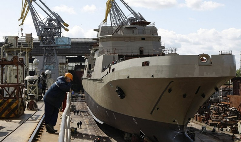 Russia's Ivan Gren Landing Ship Arrives in Baltic Sea Port for Testing