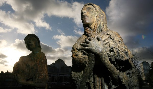 The Irish Famine Memorial - Dublin