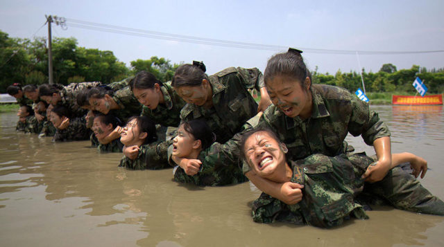 Chinese flight attendant training