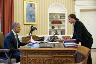 Obama with Susan Rice in the oval office