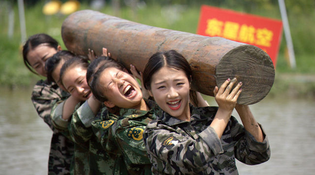 training Chinese flight attendants