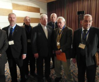 Dr. Barakat (r) with VT at the Damacus Counter Terrorism Conference, Dec. 2014