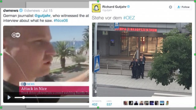 Mossad photographer Richard Gutjahr was pre-positioned in both Nice AND Munich! Talk about chutzpah...